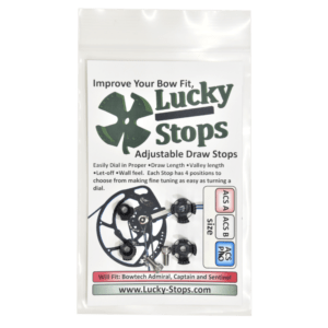 Draw Stops Size ACS Pro Pack fits Bowtech Admiral Captain and Sentinel bows